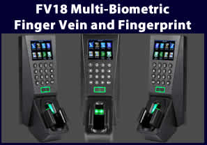 vf18 Multi-Biometric Finger Vein and Fingerprint Standalone Time Attendance & Access Control