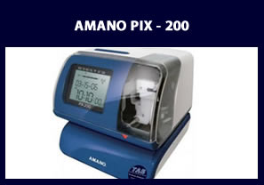 Amano pix 200 Clocking Machine
