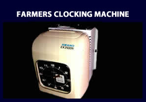 Farmers Clock with battery pack - Clocking Machine