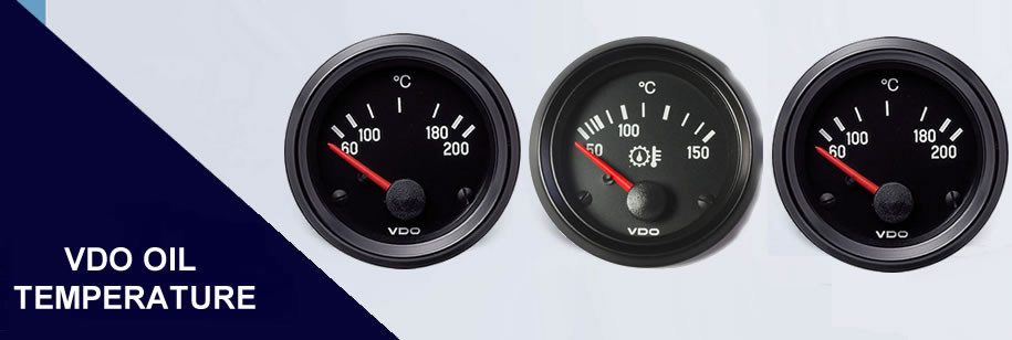 "VDO Cockpit International Clock Gauge 52mm 2/"" 24V Black 370-214-031-003G"